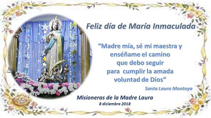 Solemne Eucaristía en la fiesta de María Inmaculada